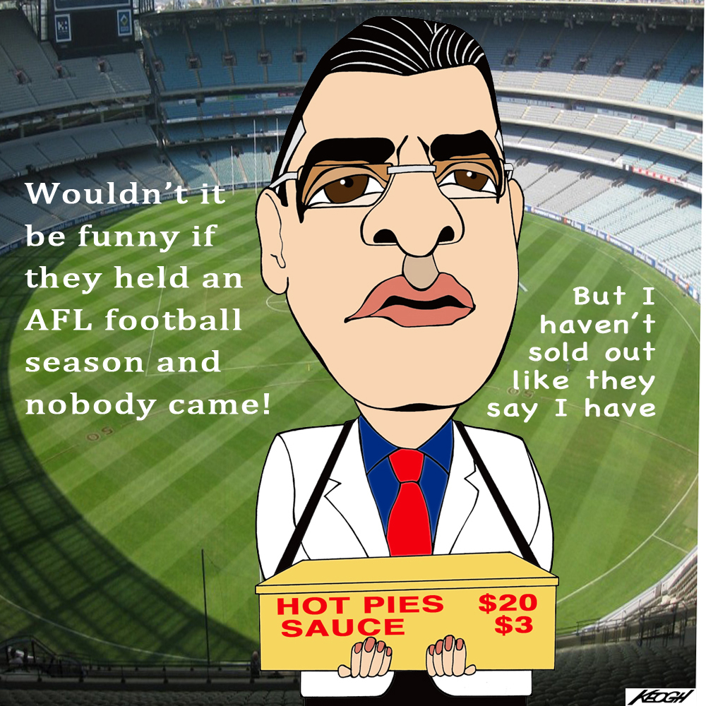 You know you have a big problem when you can't sell a pie at the footy