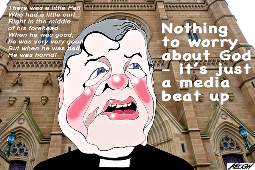 Image result for george pell cartoon